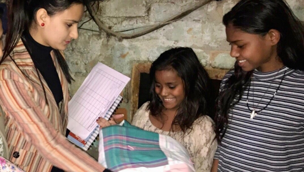 Poor and needy Children and Women were over excited to receive Quilts from USA